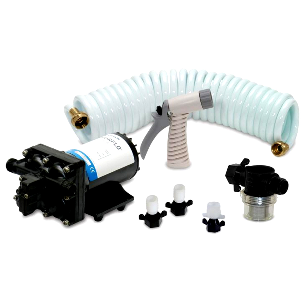 Shurflo blaster™ii washdown kit vdc gpm w hose