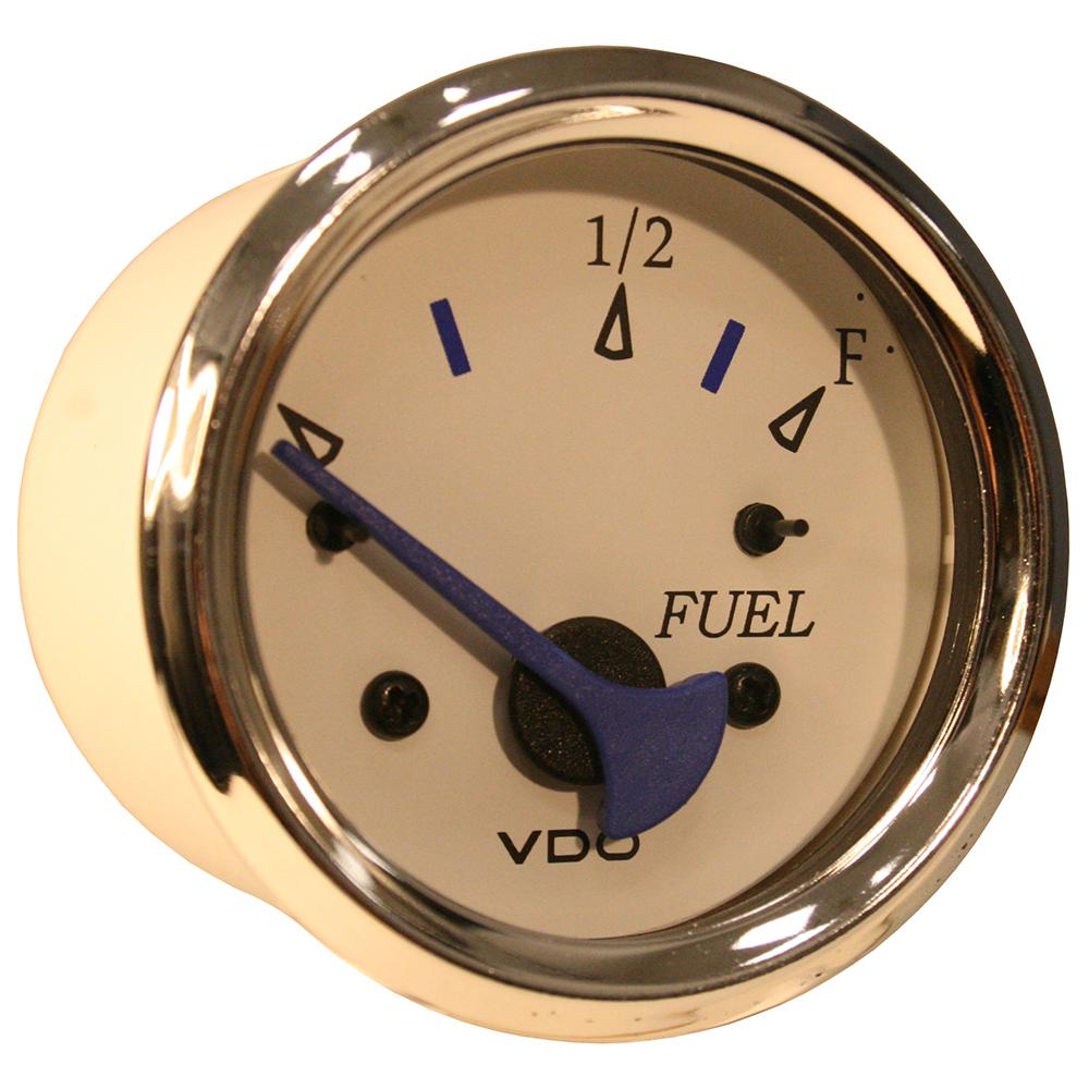 vdo allentare white fuel level gauge use w marine 240 33. Black Bedroom Furniture Sets. Home Design Ideas